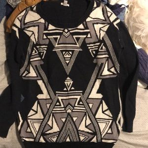 Urban outfitters geometric sweater